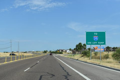 US 59 south at IH 69W - Laredo, TX