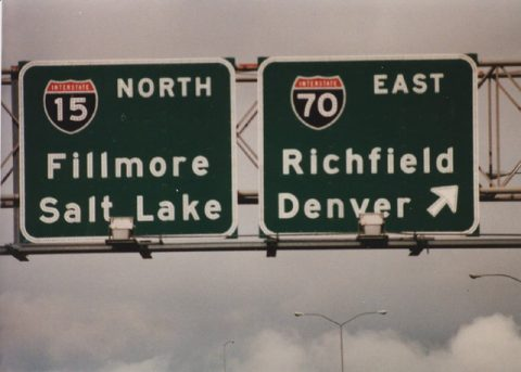 I-15 north at I-70 - 1986