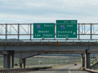 I-15 south at I-70 - Cove Fort, UT