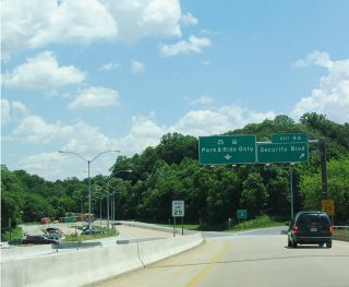 I-70 east at MD 122/Security Blvd - Woodlawn