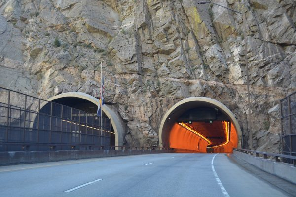 I-70 east - Hanging Lake Tunnel, CO
