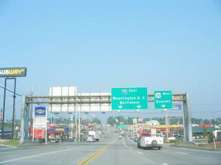 US 30 west at I-70 - Breezewood, PA