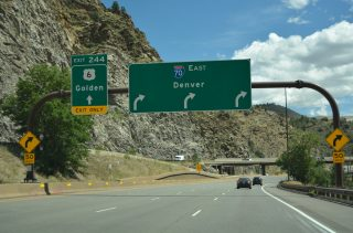 I-70/US 6 east split - Idaho Springs, CO