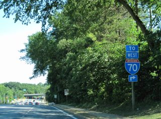 MD 122 east at I-70 - Woodlawn