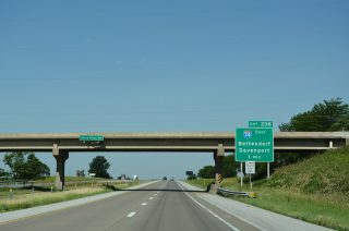 I-80 west at I-74 - Davenport, IA