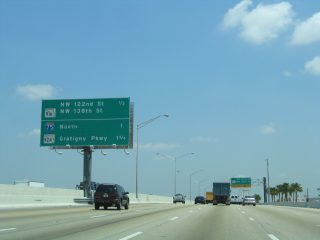 SR 826 north at NW 122nd St - Hialeah, FL