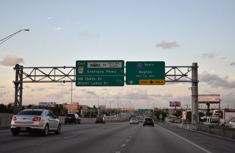 SR 826 north at I-75 - Hialeah, FL