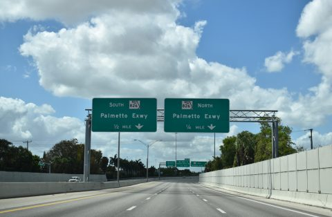 SR 924 west at I-75/SR 826 - Miami Lakes, FL