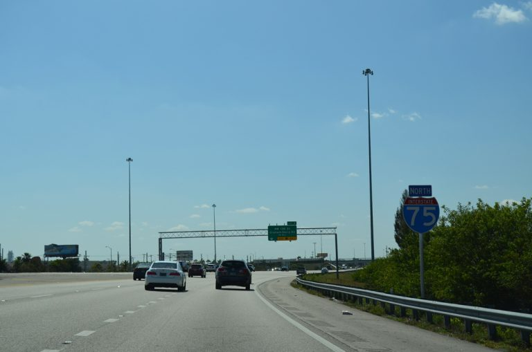 I-75 north at SR 826 - Miami Lakes, FL