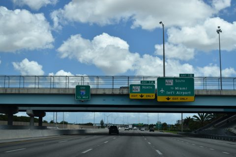 I-75 south at SR 826 - Hialeah, FL