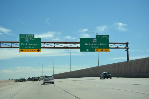 I-70 east at I-76 - Wheat Ridge, CO