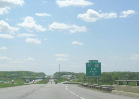 I-71 south at I-76/US 224 - 2005