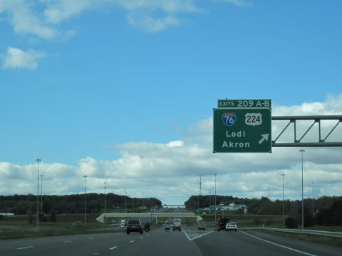 I-71 south at I-76/US 224 - Seville, OH