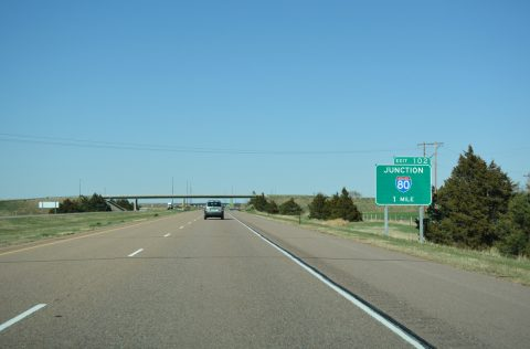 I-76 east at I-80 - Deuel County, NE