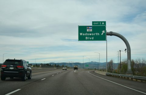 I-76 west at SH 121 - Arvada, CO
