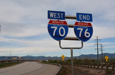 I-76 west at I-70 - Arvada, CO