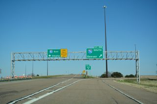 I-80 east at I-76 - Deuel County, NE