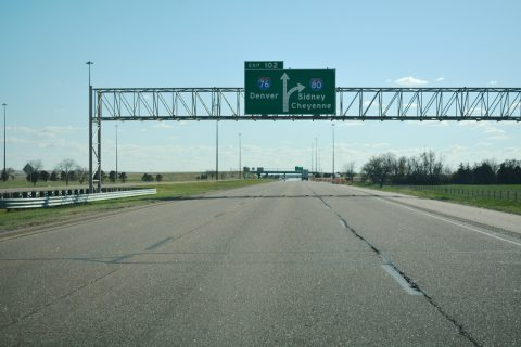 I-80 west at I-76 - Deuel County, NE