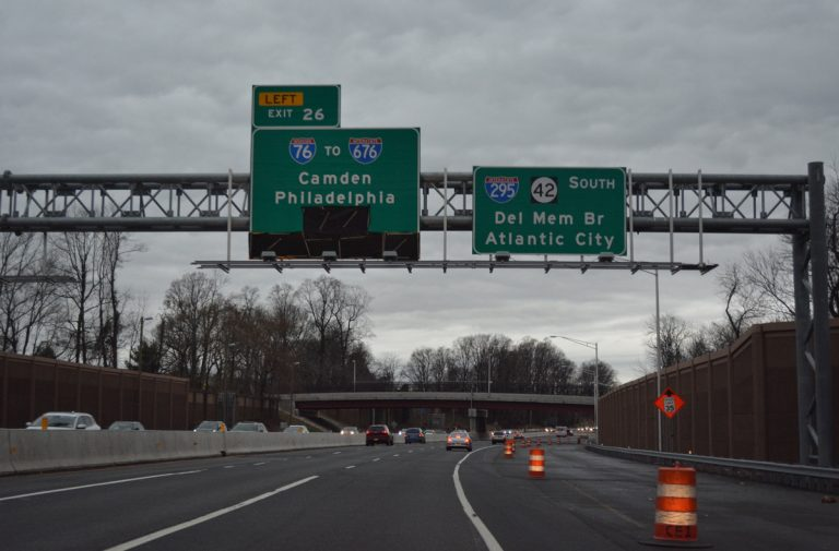I-295 south at I-76/Route 42 - Bellmawr, NJ
