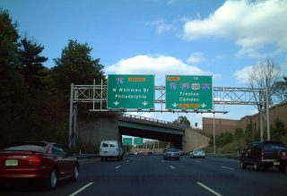 NJ Route 42 north at I-76/295 - 2001