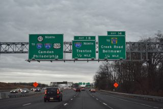 Route 42 north at I-76/295 - Bellmawr, NJ