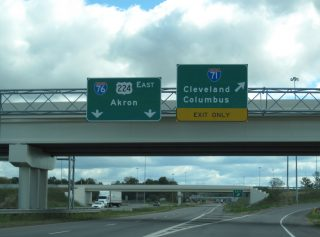 US 224 east at I-71/76 - Westfield Center, OH