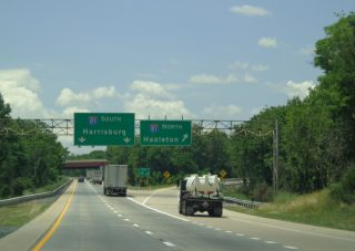 I-78 west at I-81 - Union Twp, PA