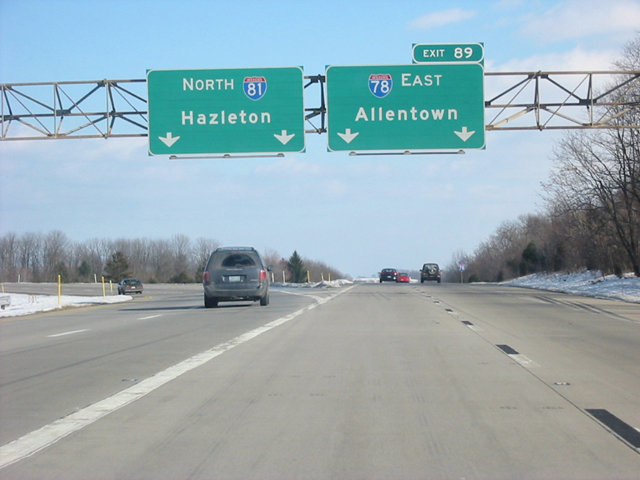 I-81 north at I-78 - 2002