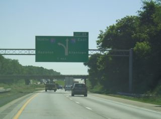 I-81 north at I-78 - Union Twp, PA