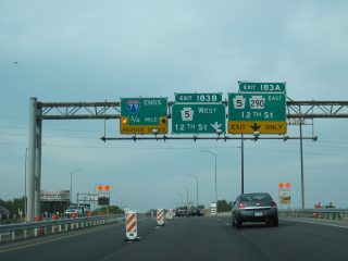 I-79 north at PA 5/290 - Erie
