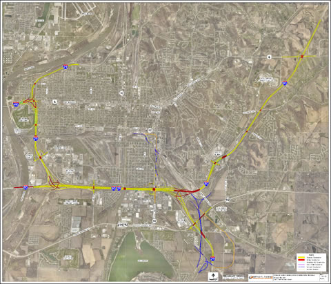 I-80 Council Bluffs, IA Project Map