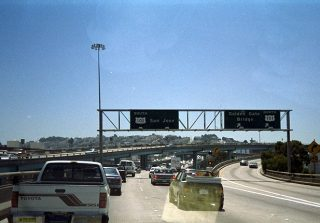 I-80 west at US 101 - 1993