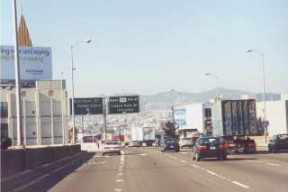 I-80 west at US 101 - 2000