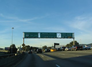 I-80 west at US 101 - 2004