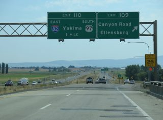I-90/US 97 east at I-82 - Ellensburg, WA