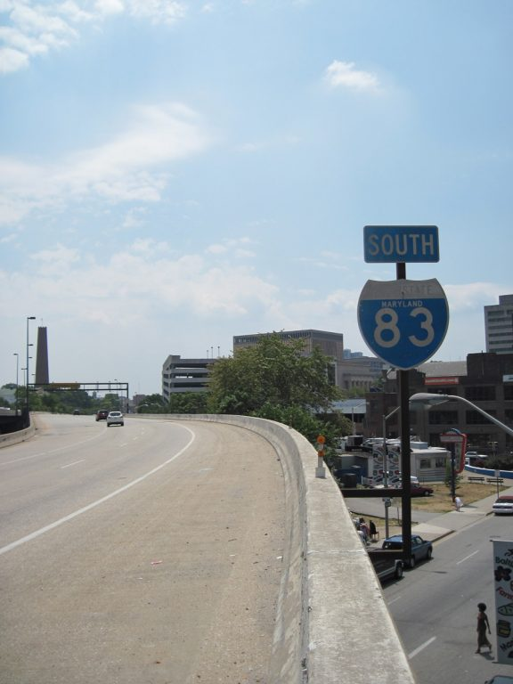I-83 south at Fayette St - Baltimore, MD