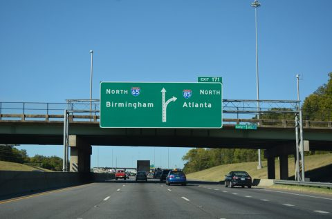 I-65/US 82 north at I-85 - Montgomery, AL