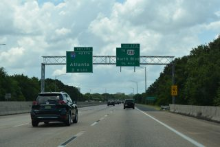 I-65/US 82 south at I-85 - Montgomery, AL
