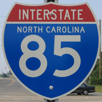 Interstate 85 North Carolina