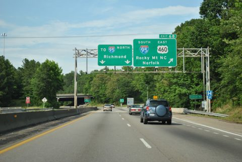 I-85/US 460 north at I-95 - Petersburg, VA