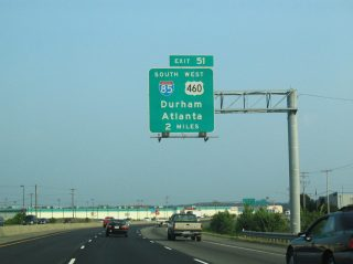 I-95 south at I-85/US 460 - 2005