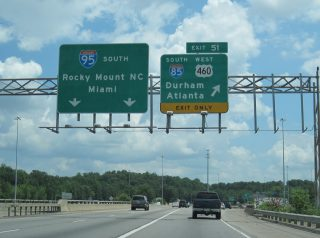 I-95 south at I-85/US 460 - 2010
