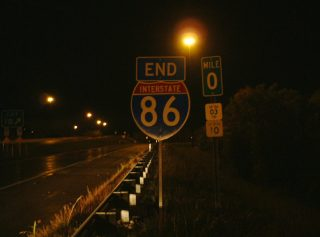 I-86 west at I-90 - Greenfield Twp, PA