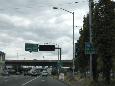 4th Ave S south at I-90 - Seattle, WA