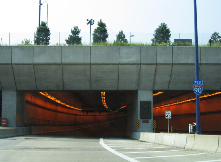I-90 west at Ted Williams Tunnel - Boston, MA