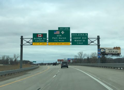I-94/69 east at Lapeer Ave - Port Huron, MI
