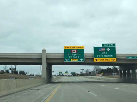 I-94/69 east at M-25 - Port Huron, MI