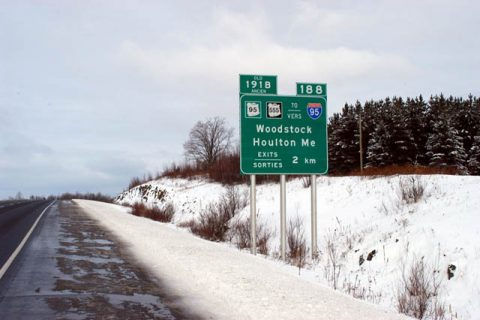 Route 2 west at Route 95 - Woodstock, NB