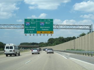 I-97 north at I-695 - Ferndale, MD