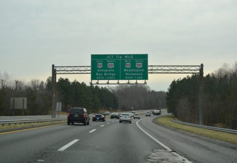 I-97 south at US 50-301/I-595 - Anne Arundel County, MD